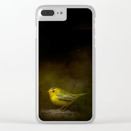 Wilson's Warbler Vignette Clear iPhone Case