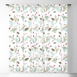 Pinecones and Berries Blackout Curtain