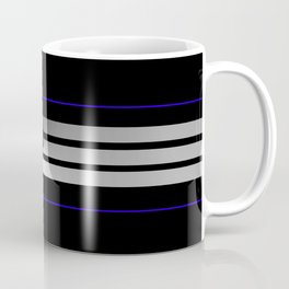 TEAM COLORS 5...Black,gray and white Coffee Mug