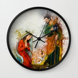 Jesus Is Born Wall Clock