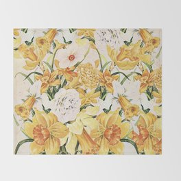 Wordsworth  and the daffodils. Throw Blanket