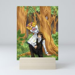 Candy and Terry in the forest Mini Art Print