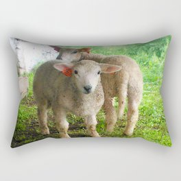 Two small helpers Rectangular Pillow