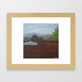 Love in the Mountains Framed Art Print