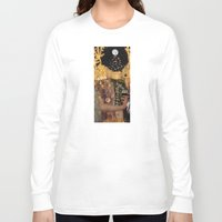 gustav klimt Long Sleeve T-shirts featuring Klimt´s Judy Collage 2 by Marko Köppe