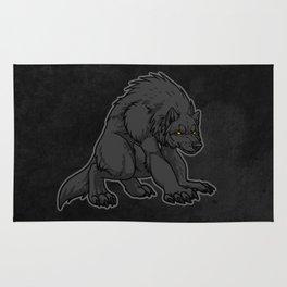 Crouching Werewolf Rug