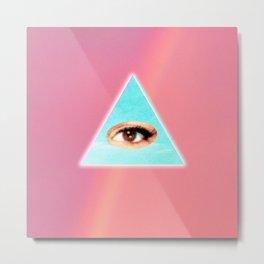 Eye see You (Pink) Metal Print