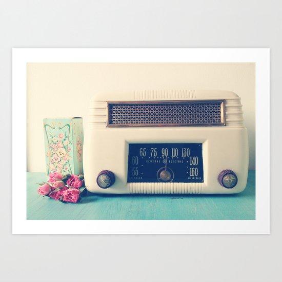 Retro Radio Art Print