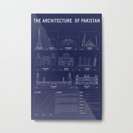 The Architecture of Pakistan Metal Print