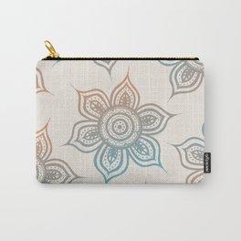 Lotus Mandala (Desert Neutral) Carry-All Pouch