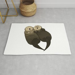Couple Otter Brown Rug