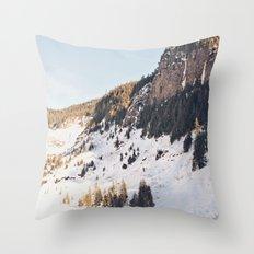 Mountain Snow in the Sun Throw Pillow