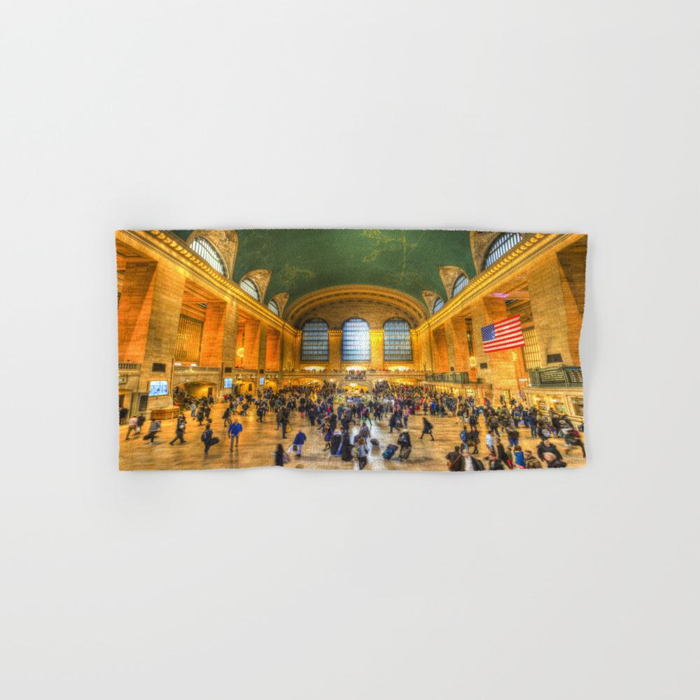 Grand Central Station New York Hand Towel by Davidpyatt BTL8321773