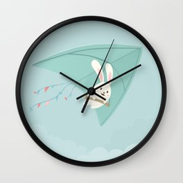 Let's fly to the sky Wall Clock