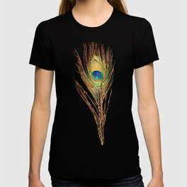 Peacock Feathers Invasion - Wave T-shirt