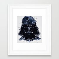 darth vader Framed Art Prints featuring Darth Vader by qualitypunk