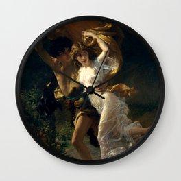 """Pierre Auguste Cot """"The Storm (La Tempête)"""" Wall Clock"""