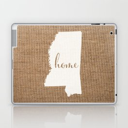 Mississippi is Home - White on Burlap Laptop & iPad Skin