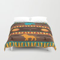 african Duvet Covers featuring African Pattern by Robin Curtiss