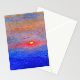 Paper-textured Sunset Stationery Cards