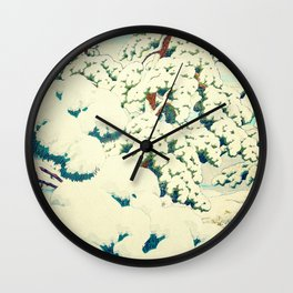 A Morning in the Snow Wall Clock