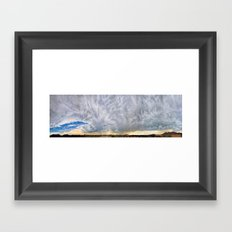 270 Degree Cloudy Sky Panorama Framed Art Print