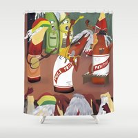 rasta Shower Curtains featuring rasta & cheers by gran mike