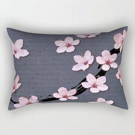 Triangluated Blossoms Rectangular Pillow