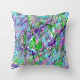 Spring Awakening Abstract Art Throw Pillow