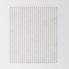 Alice Pink Pinstripe on White Throw Blanket