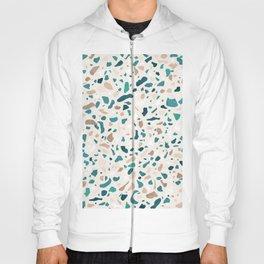Terrazzo Turquoise Pattern Hoody