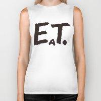 eat Biker Tanks featuring EAT by Masahisa  Saito