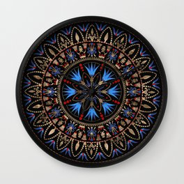 Circular Egyptian Ornament #1 Wall Clock