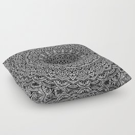 Zen Black and white Mandala Floor Pillow