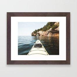 Kayaking Pictured Rocks National Lakeshore | Upper Peninsula, Michigan | John Hill Photography Framed Art Print