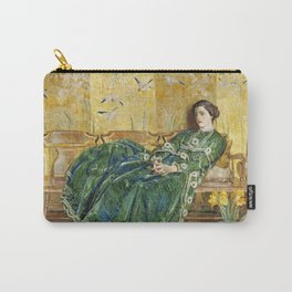Childe Hassam - April (The Green Gown) Carry-All Pouch