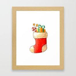 Santa's stocking Framed Art Print
