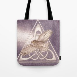 Nuit, the great-horned owl on white Tote Bag