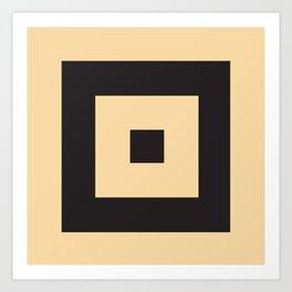 beige et noir Art Print