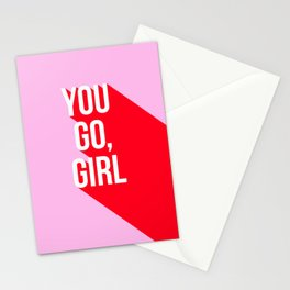 Girl Power - You go girl! Stationery Cards