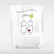 Jibsey & Jess. Catch A Falling Star Shower Curtain