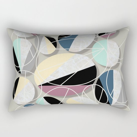 Stones and Outlines Rectangular Pillow
