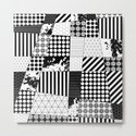 Mosaic Contrast - Black and white, geometric design by printpix