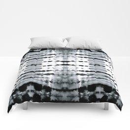BW Satin Shibori Comforters