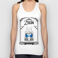 the legend of zelda Tank Tops featuring Zelda legend - Blue potion  by Art & Be