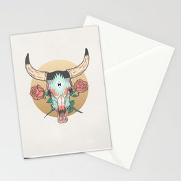 cráneo de vaca Stationery Cards