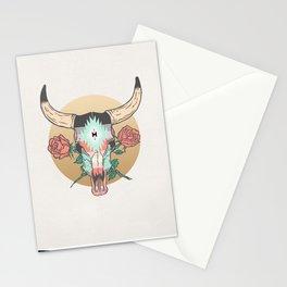 cráneo de vaca Stationery Cards