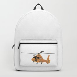 Orange European Helicopter Backpack