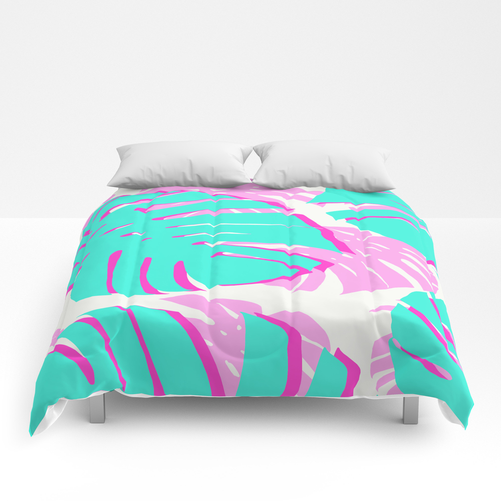 Vibrant Tropical Leaves Comforter by Beautifularts CMF8956716