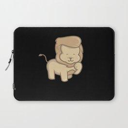 Baby Lion Kids Cartoon Animal Motif Laptop Sleeve